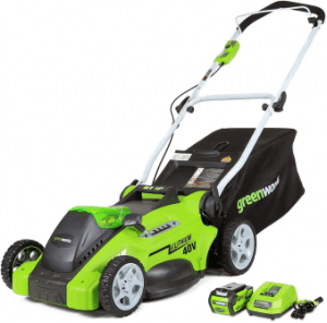 Greenworks Cordless Lawn Mower with 4Ah Battery