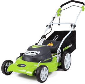 Greenworks 20-Inch 3-in-1 Electric Corded Lawn Mower