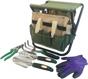 Garden Tools Set Organizer | Garden Seat Folding Gardening Stool Chair Kneeler | Gardener Bag