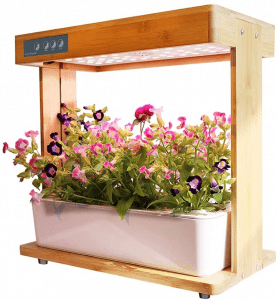 Smart Garden, Hydroponics Growing System with Bamboo Frame