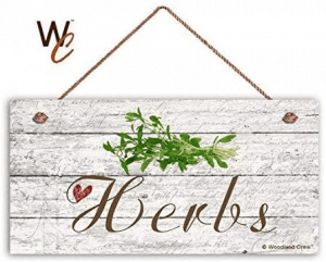 Tin speaking Herbs Garden Sign Rustic Home Decor Plaque Iron Painting