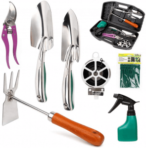 Lamptop Gardening Tools Set, 11 Pieces Stainless Steel Garden Hand Tool