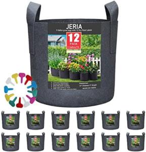 JERIA 12-Pack 3 Gallon Grow Bags